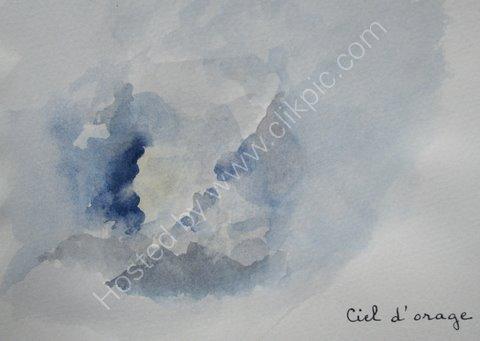 Ciel d'orage, Ardeche, 2007