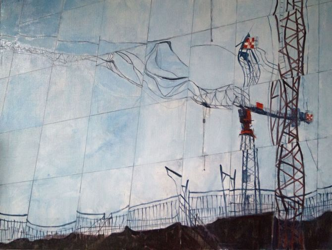 Building Reflections Cranes of Berlin 2