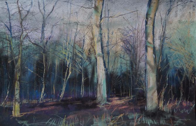 Woodland Landscape - Pastel -1
