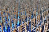 Chairs by Mike Yorke. One empty chair for every British member of the armed forces lost in Afghanistan