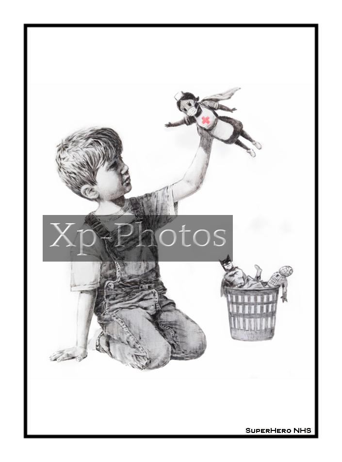 """Banksy """"Red Cross"""" or """"NHS"""""""