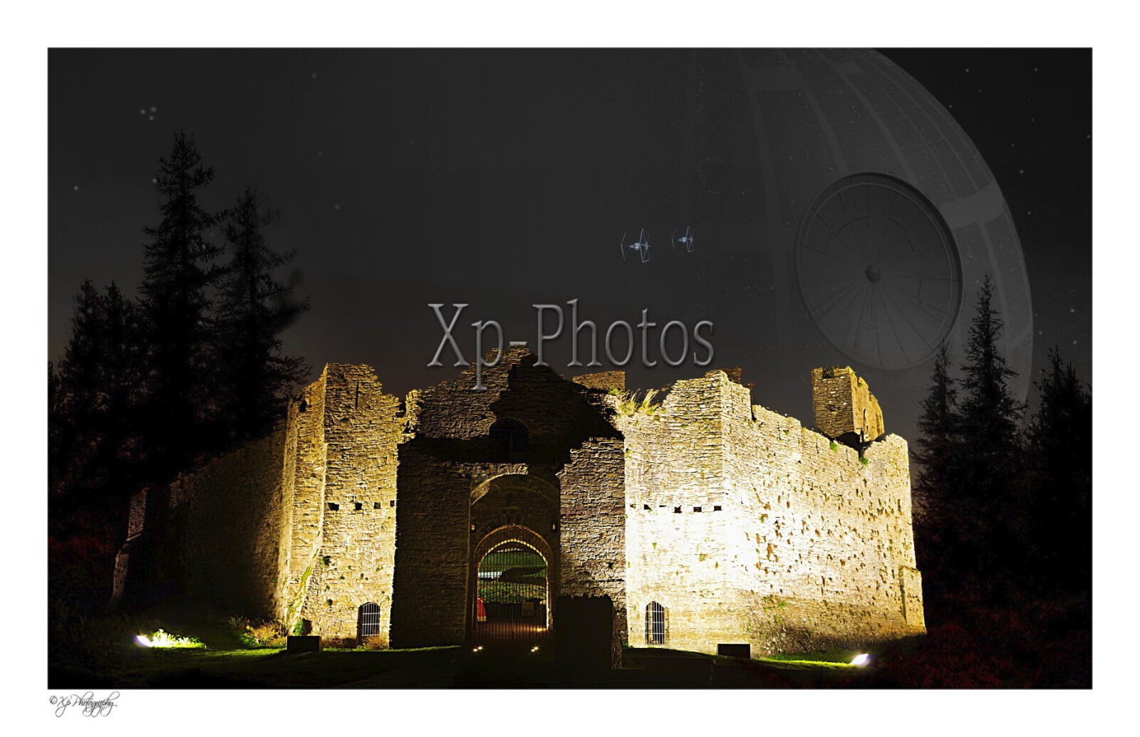 Death Star Stationed above Oystermouth Castle