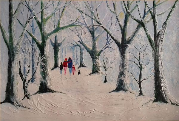 Tony Penhale: Family Stroll in the Snow