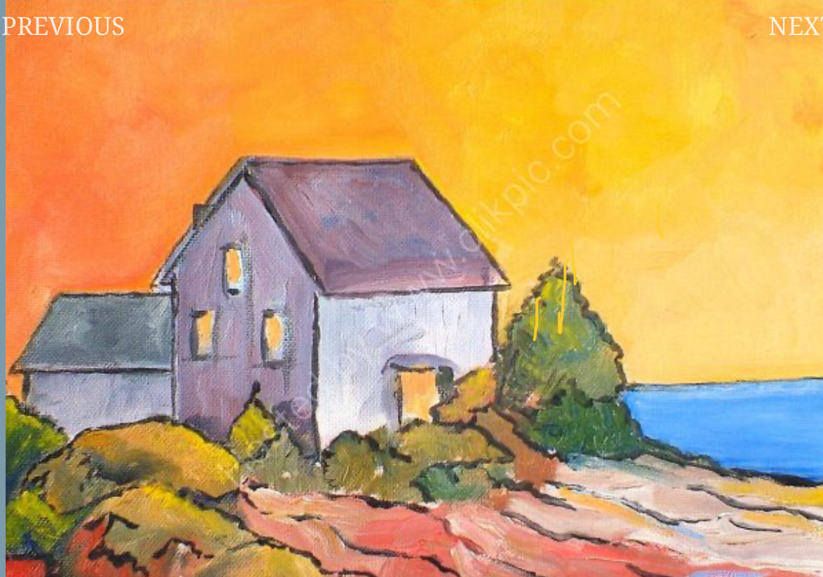 David Watkins. House by the Sea.