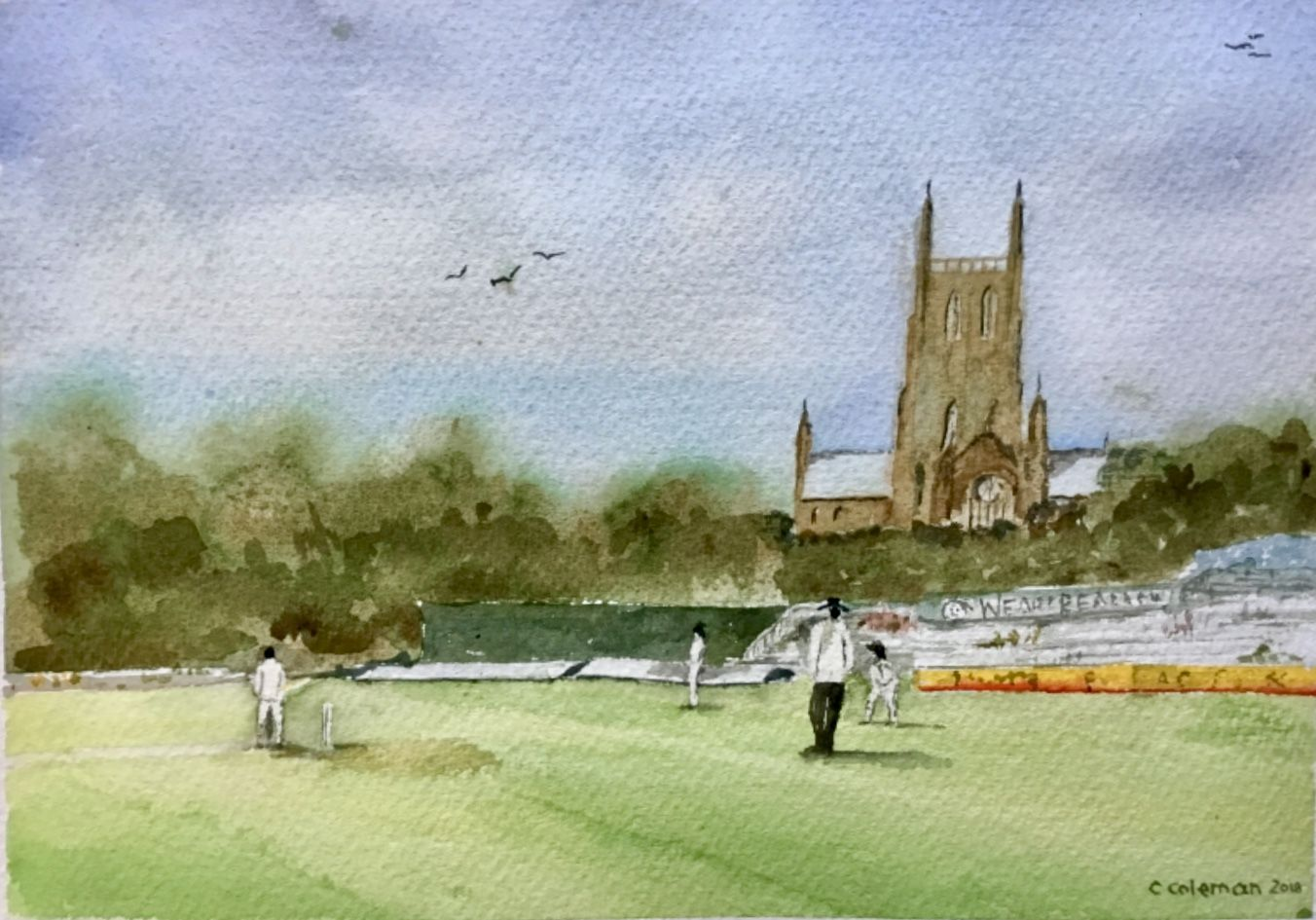 Chris Coleman. Worcester Cathedral and Cricket Ground