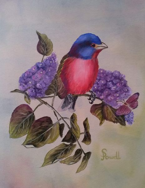 Colin Powell.  Painted Bunting
