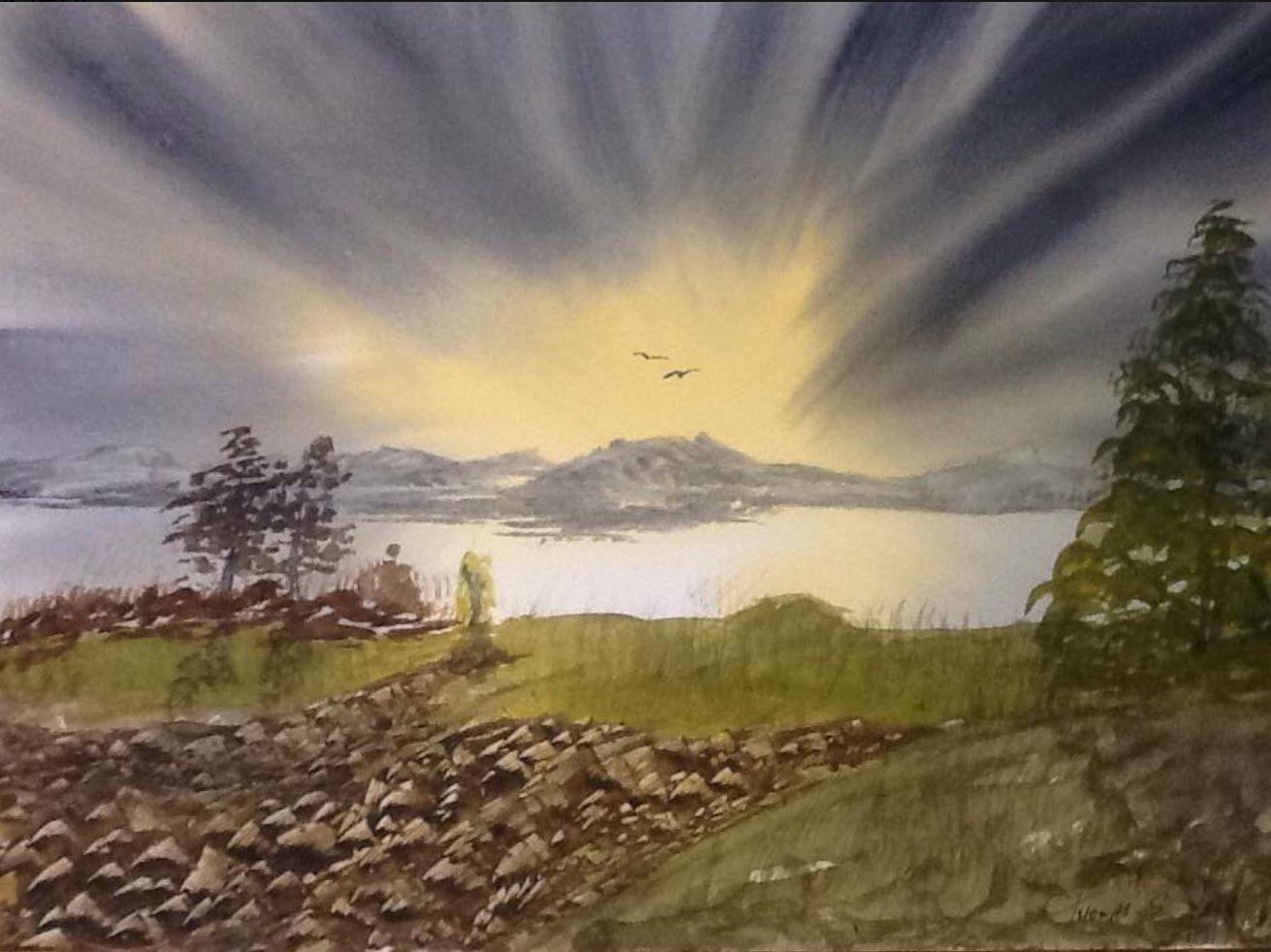Eddie Rees.  Sunburst Lake