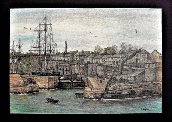 Francois Legier. Charlestown Harbour. Cornwall.