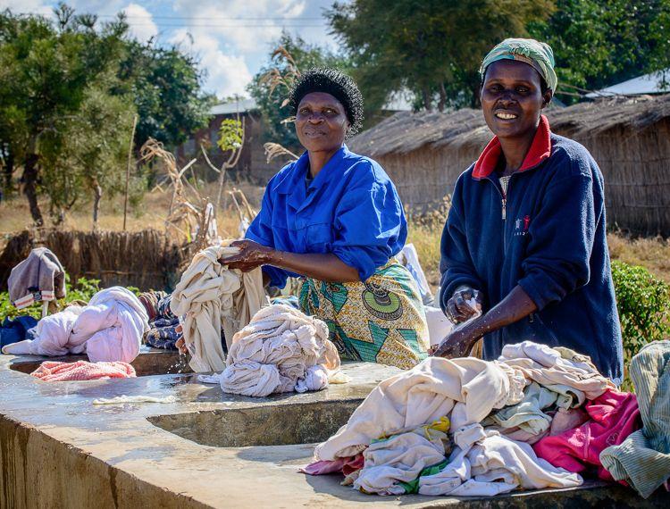 Laundry at the orphanage, Mtunthama