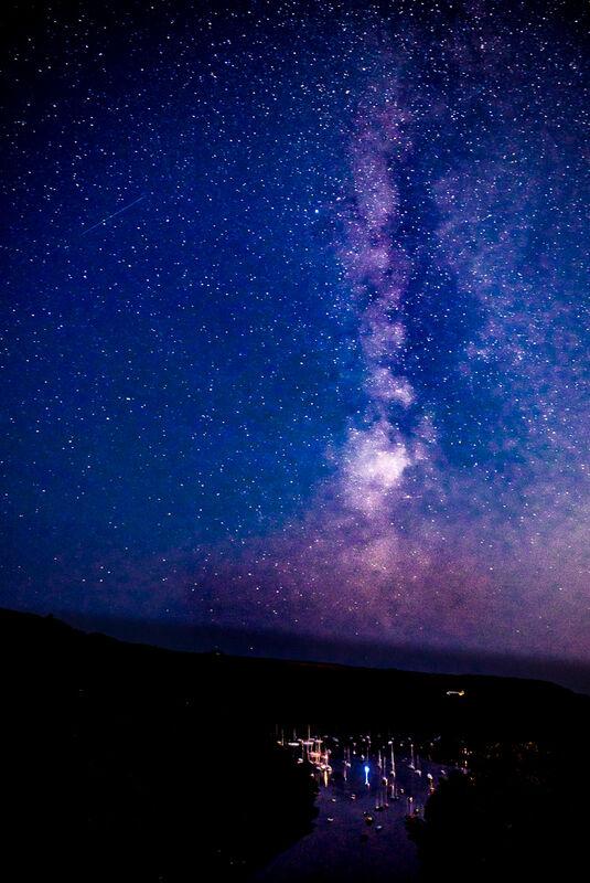 Milky way over The Pool, Newton Ferrers