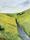 Road across the Wolds' East Yorkshire. Acrylic