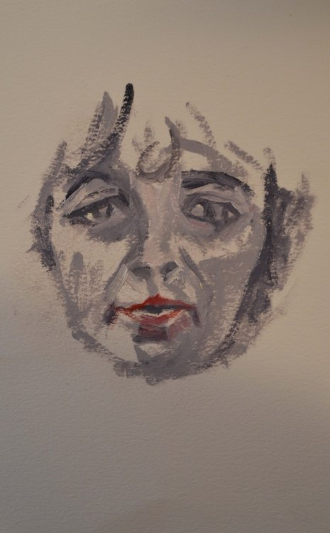 Linda (walnut oil on Arches Huile paper) - Peter Whitehouse