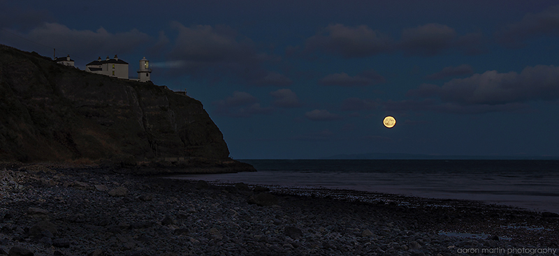 Moonrise at Blackhead County Antrim