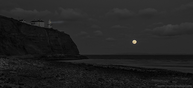 Moonrise at Blackhead, County Antrim