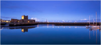 Carrickfergus Castle and Harbour at Night