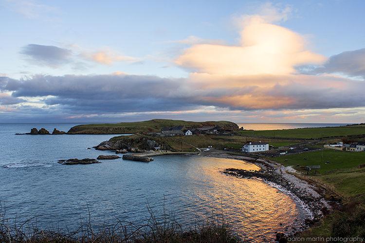 Portmuck Harbour and Muck Island Islandmagee County Antrim