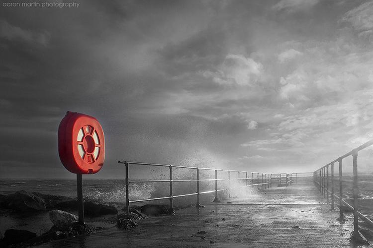 Stormy Seas at Whitehead County Antrim