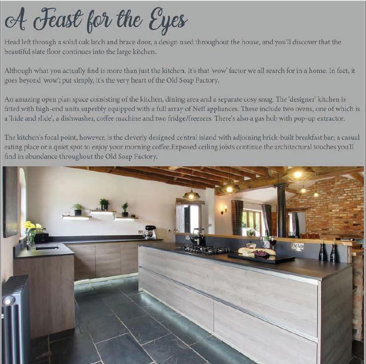 brochure copy promoting a luxury, high-end UK property written by Andrew Baskott, creative freelance copywriter