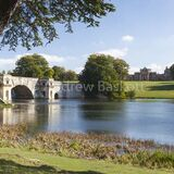 Blenheim Palace seen across the great lake created by Lancelot 'Capability' Brown
