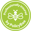 Light green Policy Bee Insurance logo