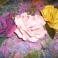 Handmade Fabric Flowers. Workshop or crafts for sale