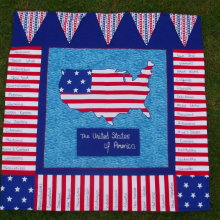 """Stars and Stripes"" Wall Hanging"