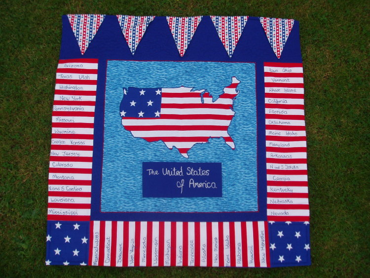 """""""Stars and Stripes"""" Wall Hanging"""