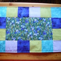 Blue Iris Table Runner
