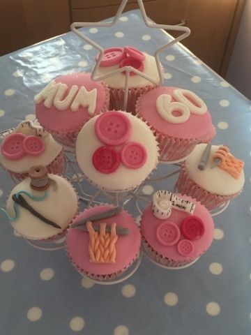 Sewing Theme Cupcake Tower