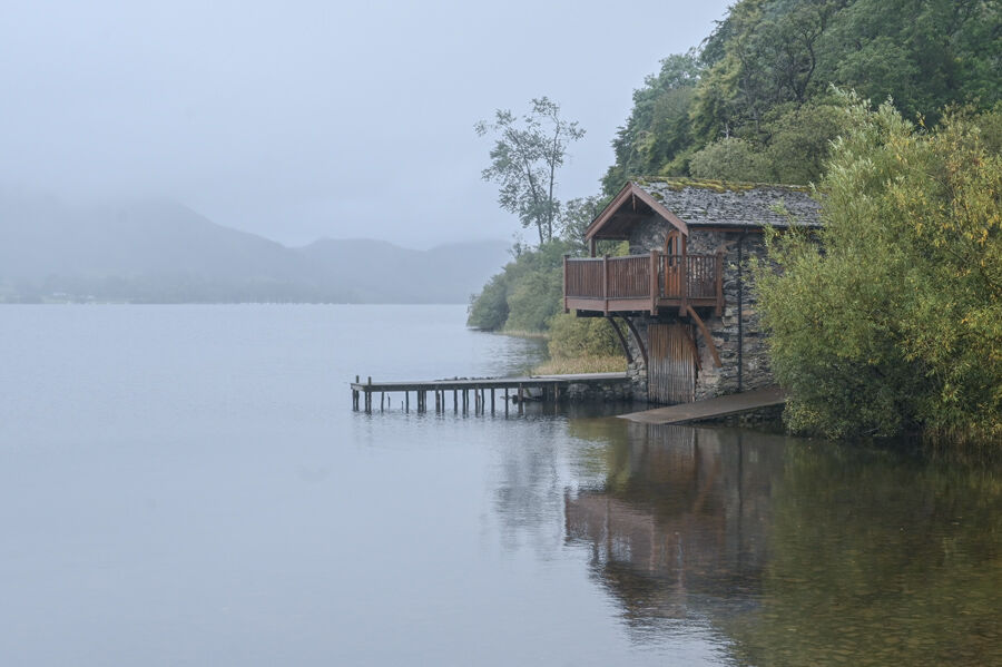 Boathouse in the Mist