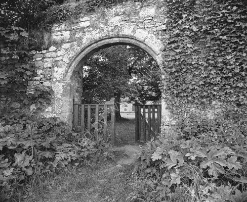 A Gateway in to Pluscarden Abbey.