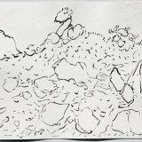 Ardfern, ink on paper, 37x48cm, 1991