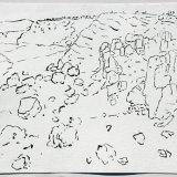 Cleats Shore, Arran, ink on paper, 38x48cm, 1991