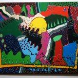 Enclosures 1, acrylic on canvas, 61x76cm, 1993