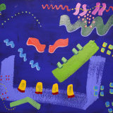 Interventions 16, acrylic on paper, 37x48cm, 1996