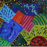 Interventions 30, acrylic on paper, 50x66cm, 1998