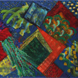 Interventions 90, acrylic on linen, 81x101, 1998