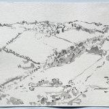 Leworthy Farm, Devon, ink on paper, 38x48cm, 1990