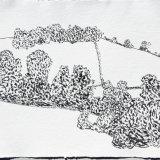 Northwick, Somerset, ink on paper, 42x52cm, 2018