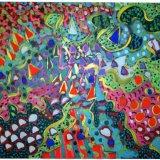 Saxby Fields 10, acrylic on paper, 56x76cm, 1984