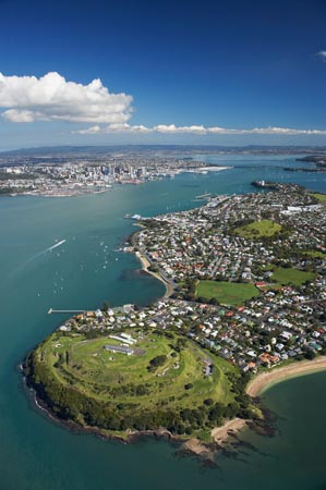 North Head, Devonport, Auckland, North Island, New Zealand - Aerial