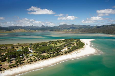 Matarangi, Coromandel Peninsula, North Island, New Zealand - aerial