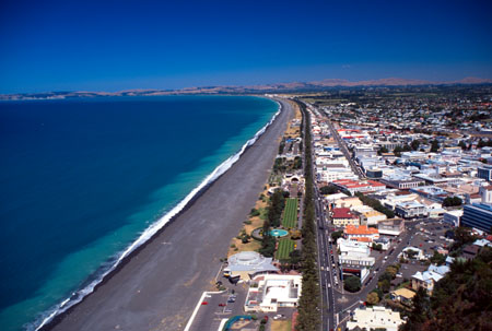 Napier, Hawke's Bay, North Island, New Zealand - aerial