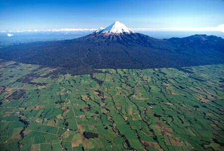 Mt Taranaki / Egmont, Taranaki, North Island, New Zealand - aerial