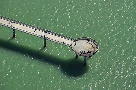 New Brighton Pier, Christchurch, South Island, New Zealand - aerial