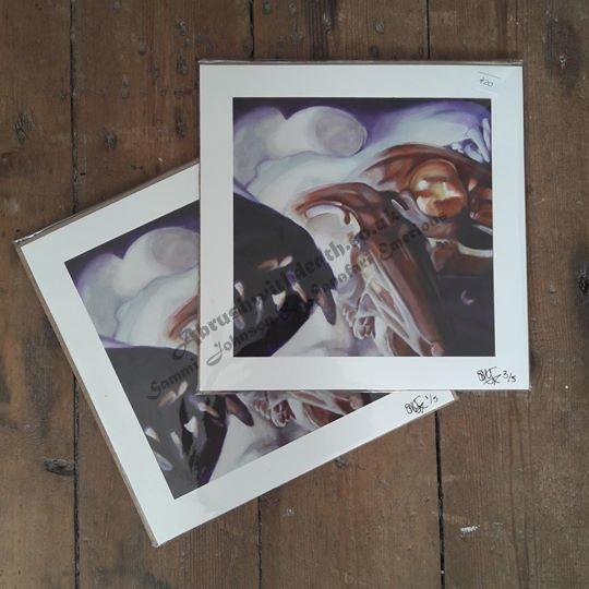25.5x25.5cm Fox and Rabbit Fine Art Print