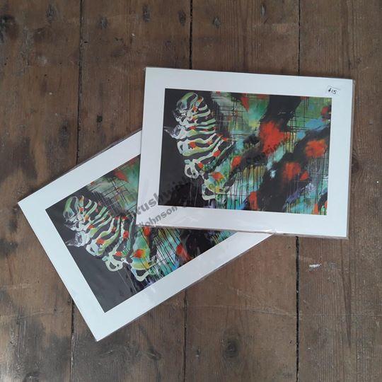 26.5x20cm Metamorphosis Caterpillar Fine Art Print