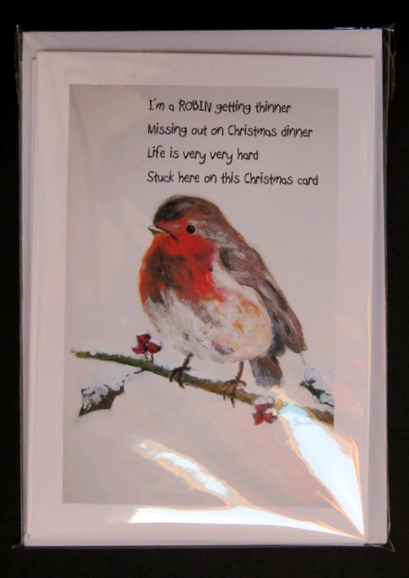 """""""I'm a Robin getting thinner"""": Single design set of 6 cards"""