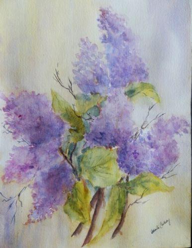 lilacs watercolour