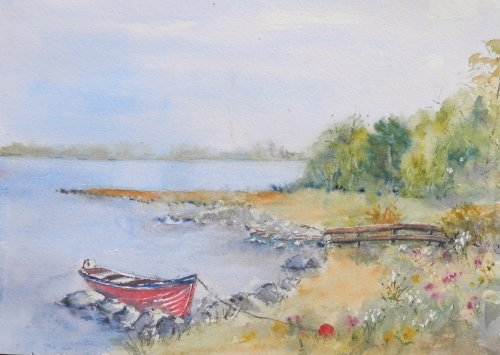 Boat on Lough corrib